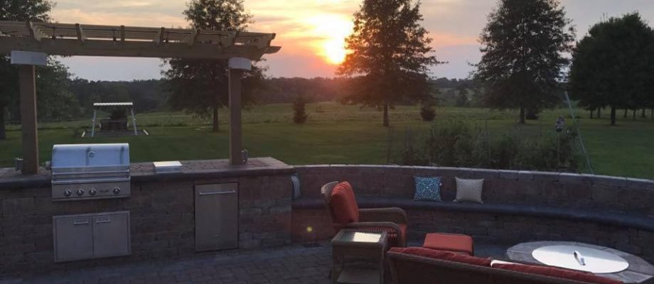 Complete Patio with Sunset